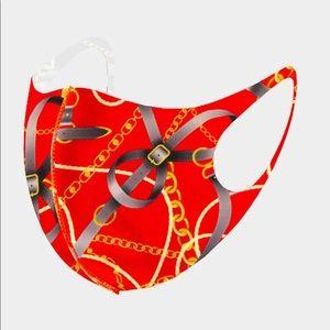 Accessories - Fashion Chain Print Mask